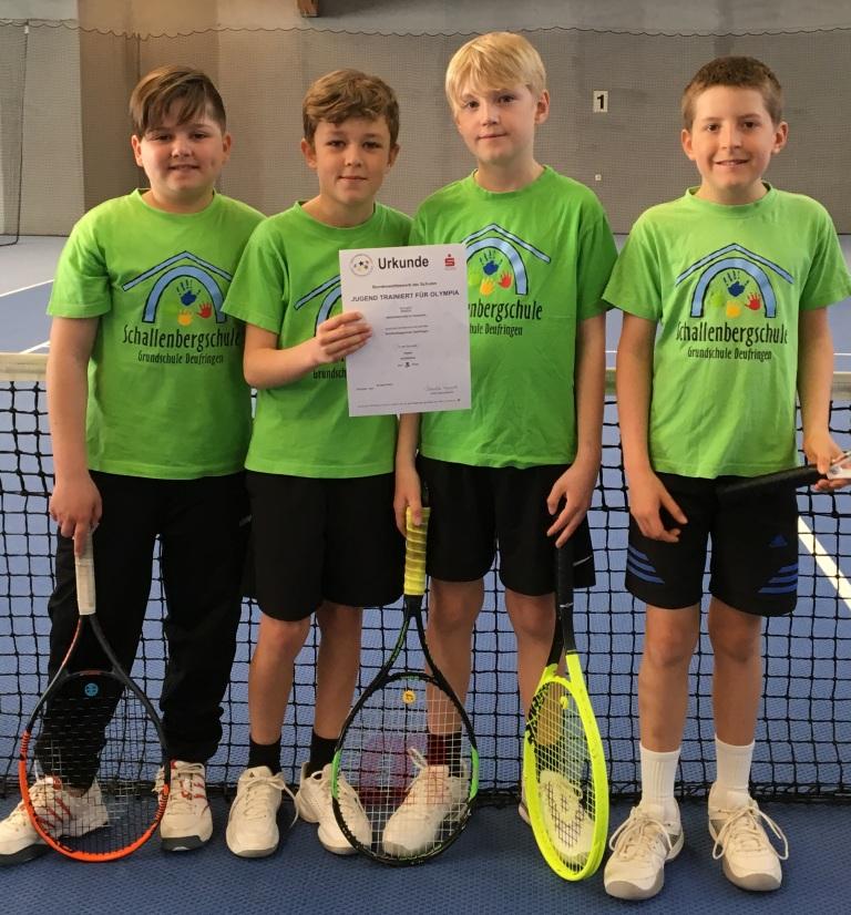 Unsere Tennisprofis der AG bei Jugend trainiert für Olympia