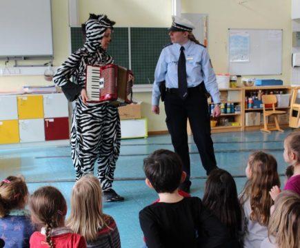 Das Zebra in der Schule