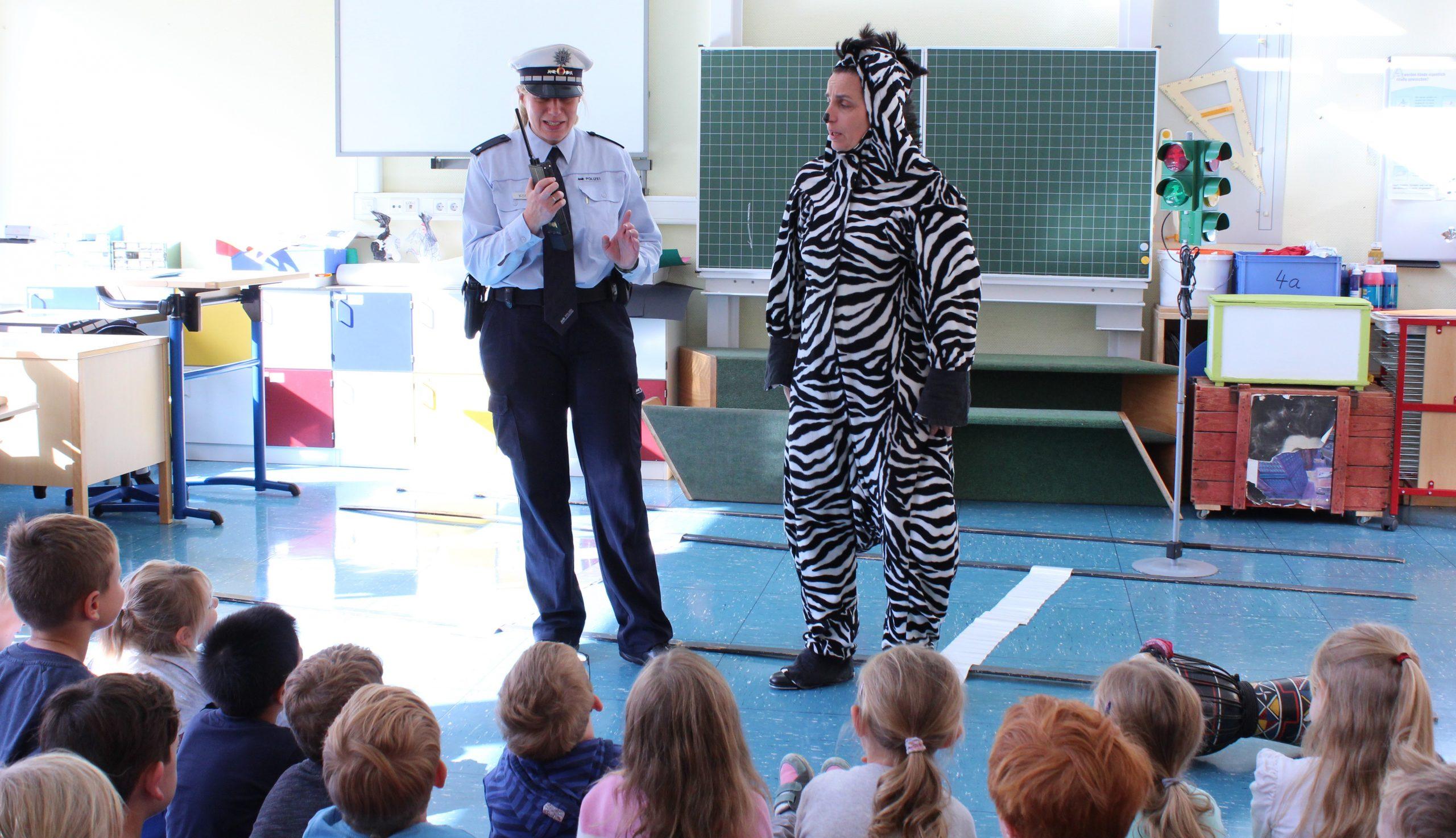 Ein Zebra in der Schule?