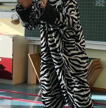 Das kleine Zebra war zu Besuch