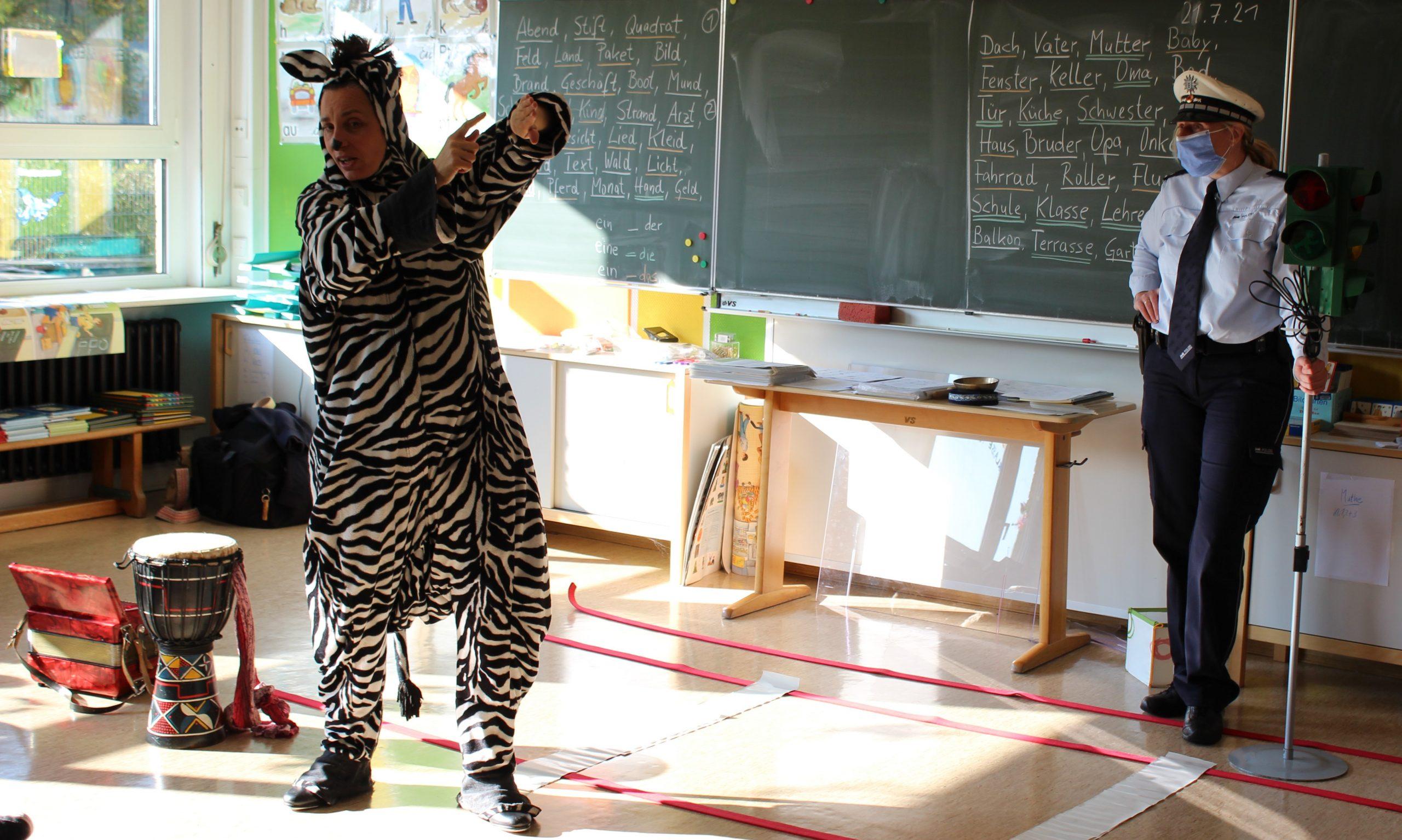 Ein Zebra hat sich verlaufen